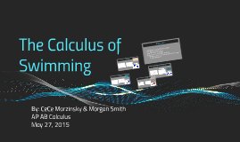 The calculus of swimming