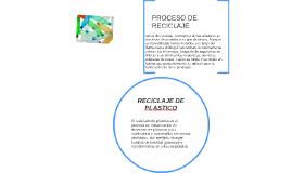 El reciclado de plástico es el proceso de recuperación de de