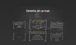 Copy of Elementos del curriculo