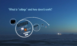 """What is """"college"""" and how does it work?"""