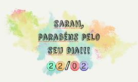 Parabéns sarah!