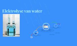 Elektrolyse van water