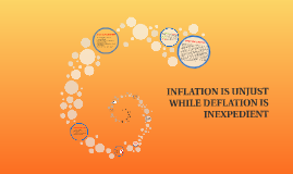 Copy of INFLATION IS UNJUST WHILE DEFLATION IS INEXPEDIENT