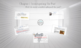 Chapter 1: Investigating the Past