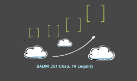 BADM 351 Chap. 14 Legality