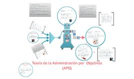 Teoría de la Administración por  Objetivos (APO)