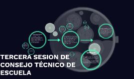 TERCERA SESION DE CONSEJO TÉCNICO DE ESCUELA