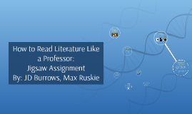 Copy of How to Read Literature Like a Professor Jigsaw Assignment