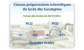 Copy of Présentation CPGE Eucalyptus