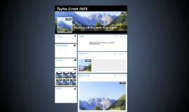 Taylor Creek 2014
