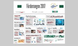 Übersicht SFG Förderungen 2017