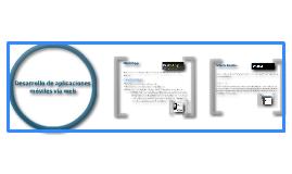 Desarrollo de aplicaciones moviles via web