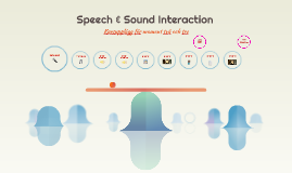 Speech & Sound Interaction