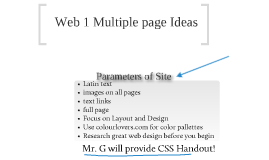 Web 1 Multiple page site with Photos