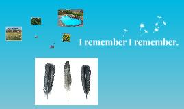 I remember, I remember.