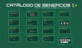 CATÁLOGO DE BENEFICIOS