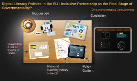 Digital Literacy Policies in the EU - Inclusive Partnership