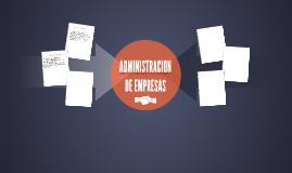 ADMINISTRACION DE EMPRESAS