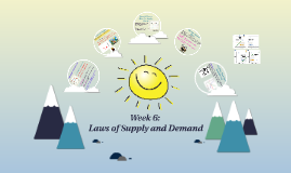 Week 6:  Laws of Supply and Demand