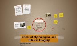 Effect of Mythological and Biblical Imagery