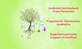 Programa de Intervencion Academica