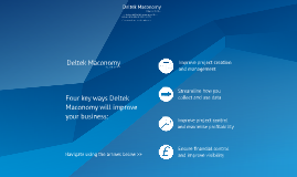 Deltek Maconomy Guided Product Tour