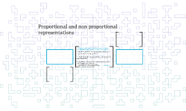 Proportional and non proportional representations