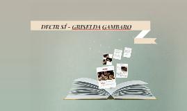 Copy of DECIR SÍ - GRISELDA GAMBARO