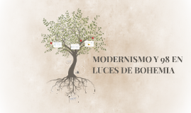 MODERNISMO Y 98 EN LUCES DE BOHEMIA