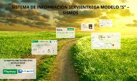 """Sistema de Información Servientrega Modelo """"S"""" – SISMOS"""