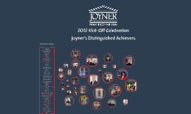Joyner's Distinguished Achievers 2015