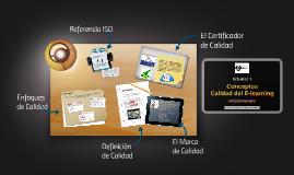 Conceptos - Calidad de E-learning