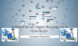 Impacto de las Redes Sociales en la Edcacion