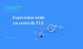 Expression orale en cours de FLE