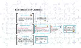 La Soberanía en Colombia
