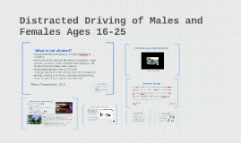 Distracted Driving of Males and Females Ages 16-25