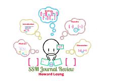 SSM Journal review