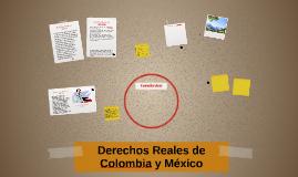 Derechos reales de Colombia y México
