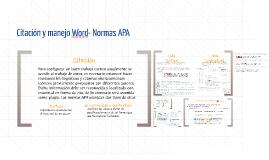 Citación y manejo Word- Normas APA