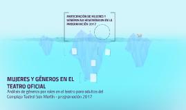 ANALISIS DE ROLES POR GÉNERO EN EL COMPLEJO TEATRAL SAN MART