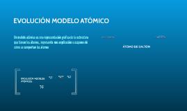 EVOLUCION MODELO ATOMICO