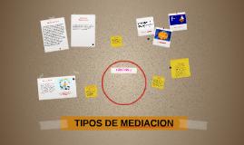 TIPOS DE MEDIACION