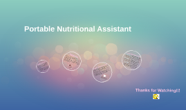 The Portable Nutritional Assistant