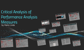 Copy of Critical Analysis of Performance Analysis Measures