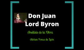 Análisis Don Juan Byron