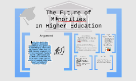 Minorities In Higher Education