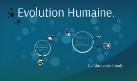 Evolution Humane.