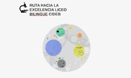 RUTA HACIA LA EXCELENCIA LICEO BILINGUE CIDEB