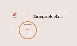 Europæisk islam