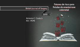Fatores de risco para fístulas de anastomose colorretal